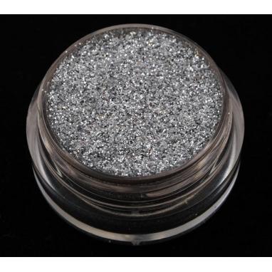 Brokat Srebrny 0.2 mm. Pojemność 5 ml.