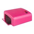 Lampa UV 36w Kwadratowa Różowa + 4 żarówki