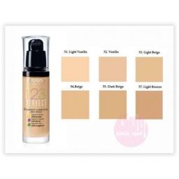 Bourjois 123 Perfect Foundation Podkład ujednolicający 52 Vanilla 30ml