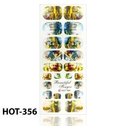 NAKLEJKI WODNE DO PAZNOKCI - ARKUSZ 12,5 x 5,5cm - 22 NAKLEJKI - HOT-356