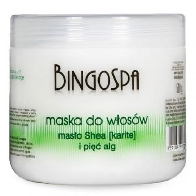 Maska do włosów z masłem Shea i pięcioma algami BingoSpa 500 ml