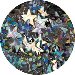 Gwiazdki srebrny hologram 4 mm