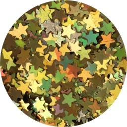 Gwiazdki złoty hologram 2 mm