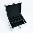 Kuferek kosmetyczny mały różowy diament faktura 3D