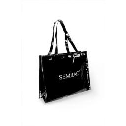 Torba zakupowa czarna SEMILAC z zamkiem