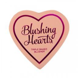 MakeupRevolution Hearts Róż Peachy Pink Kisses 10g