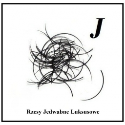 Rzęsy Jedwabne. Profil J. Grubość 0,20. Długość 12mm.