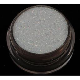 Brokat Biały Irys Opalizujący 0.2 mm. Poj. 5 ml