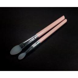 Pędzelek do makijażu silikonowy zestaw 2 szt. róż