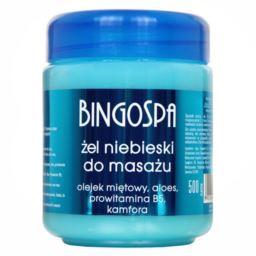 Bingospa Żel niebieski do masażu, olejek miętowy