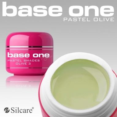 Żel UV Base One Pastel Olive 5 g.