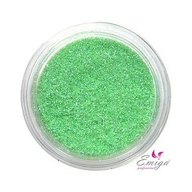 Brokat Zielony Jasny Hologram 0.2 mm. Pojemność Słoiczka 5 ml.
