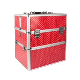 Kuferek z kratą dwuczęściowy Serca Czerwony
