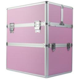 Kuferek kosmetyczny dwuczęściowy różowy Premium