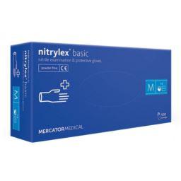 Rękawice nitrylowe Nitrylex Basic niebieskie M