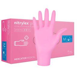 Rękawice nitrylowe Nitrylex pink różowe M 100 szt