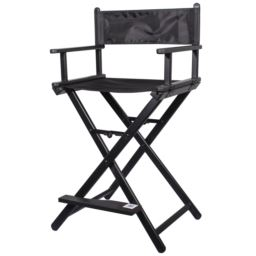 Krzesło do Wizażu Składane Czarne