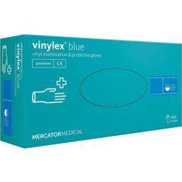 Rękawice winylowe niebieskie Vinylex L 100 szt
