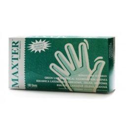 Maxter rękawice lateksowe miętowe M 100 szt