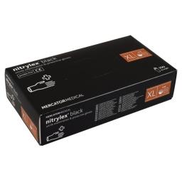 Rękawice nitrylowe Nitrylex Black czarne XL 100szt