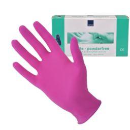 Abena, rękawice nitrylowe różowe S 10x100 szt