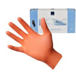 Abena, rękawice nitrylowe pomarańczowe L 100szt