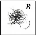 Rzęsy  Jedwabne Profil B. Grubość 0,15. Długość 14mm