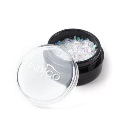 Indigo Snowflakes 4 Green Sparkle - Folia Cięta