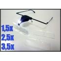 Okulary Ze Światełkiem Led + 3 Wymienne Szkła
