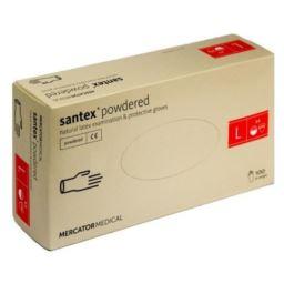Rękawice lateksowe santex® powdered L 100 szt