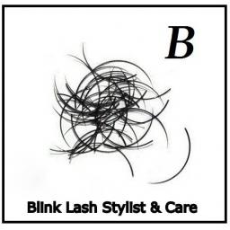 Rzęsy Jedwabne. Profil B. Grubość 0,25. Długość 9 mm.Blink Lash Stylist & Care