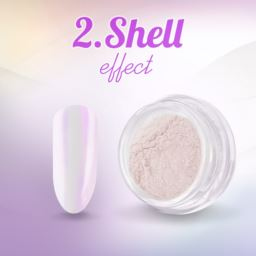 2. Shell effect - pyłek do paznokci