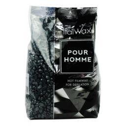 Italwax pour homme black film wax w dropsach 1 kg
