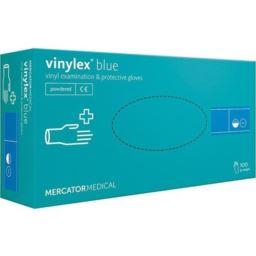 Rękawice winylowe niebieskie Vinylex M 100 szt