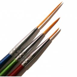 Zestaw 3 Kolorowych  Pędzelków do Zdobień Artystycznych.