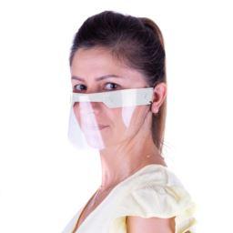 Przyłbica mini maska ochronna biała