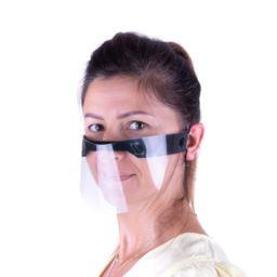 Przyłbica mini maska ochronna czarna