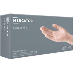 Rękawice MERCATOR® simple vinyl (PF) białe 100 szt