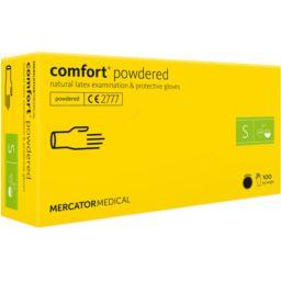 Rękawice lateksowe comfort®powdered białe S 100szt