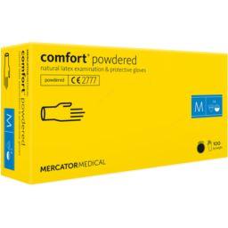 Rękawice lateksowe comfort®powdered białe M 100szt