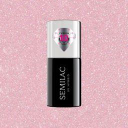 805 Semilac Extend Care 5w1 Glitter Dirty NudeRose