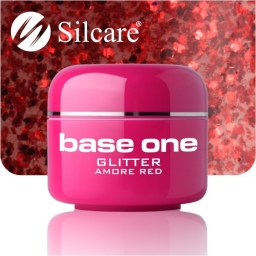 Żel Glitter Amore Red 5g