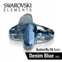 SWAROVSKI MOTYL - DENIM BLUE 8 mm 1szt.