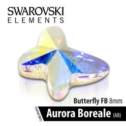 SWAROVSKI MOTYL - CRYSTAL AURORA BOREALE 8 mm 1szt.