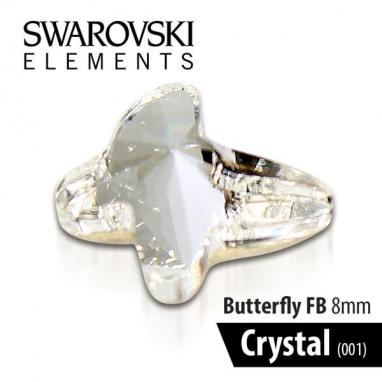 SWAROVSKI MOTYL - CRYSTAL 8 mm 1szt.