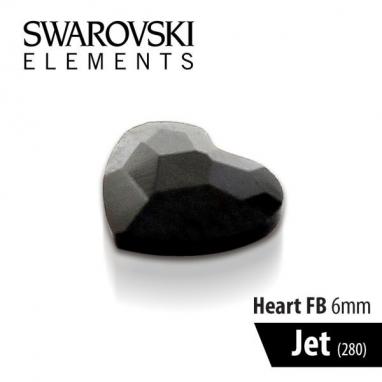 SWAROVSKI SERCE - JET 6 mm 1szt.