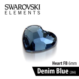 SWAROVSKI SERCE - DENIM BLUE 6 mm 1szt.