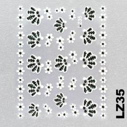 Naklejka 3 D Na Paznokcie LZ35