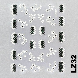 Naklejka 3 D Na Paznokcie LZ32