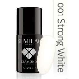 Lakier hybrydowy Semilac 001 Strong White - 7 ml
